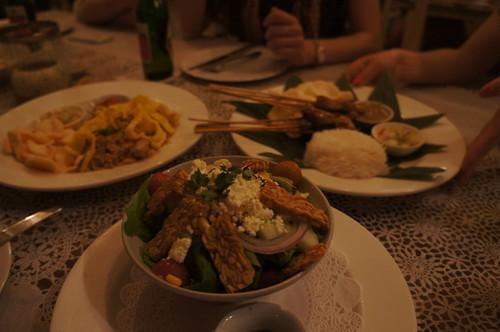 【バリ2013】街カフェでディナー Cafe Bali