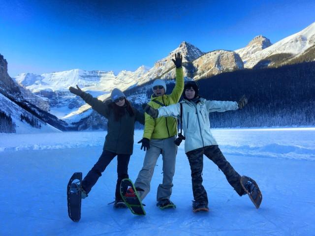 8. カナダ バンフ 冬の レイク・ルイーズ でスノーシューを