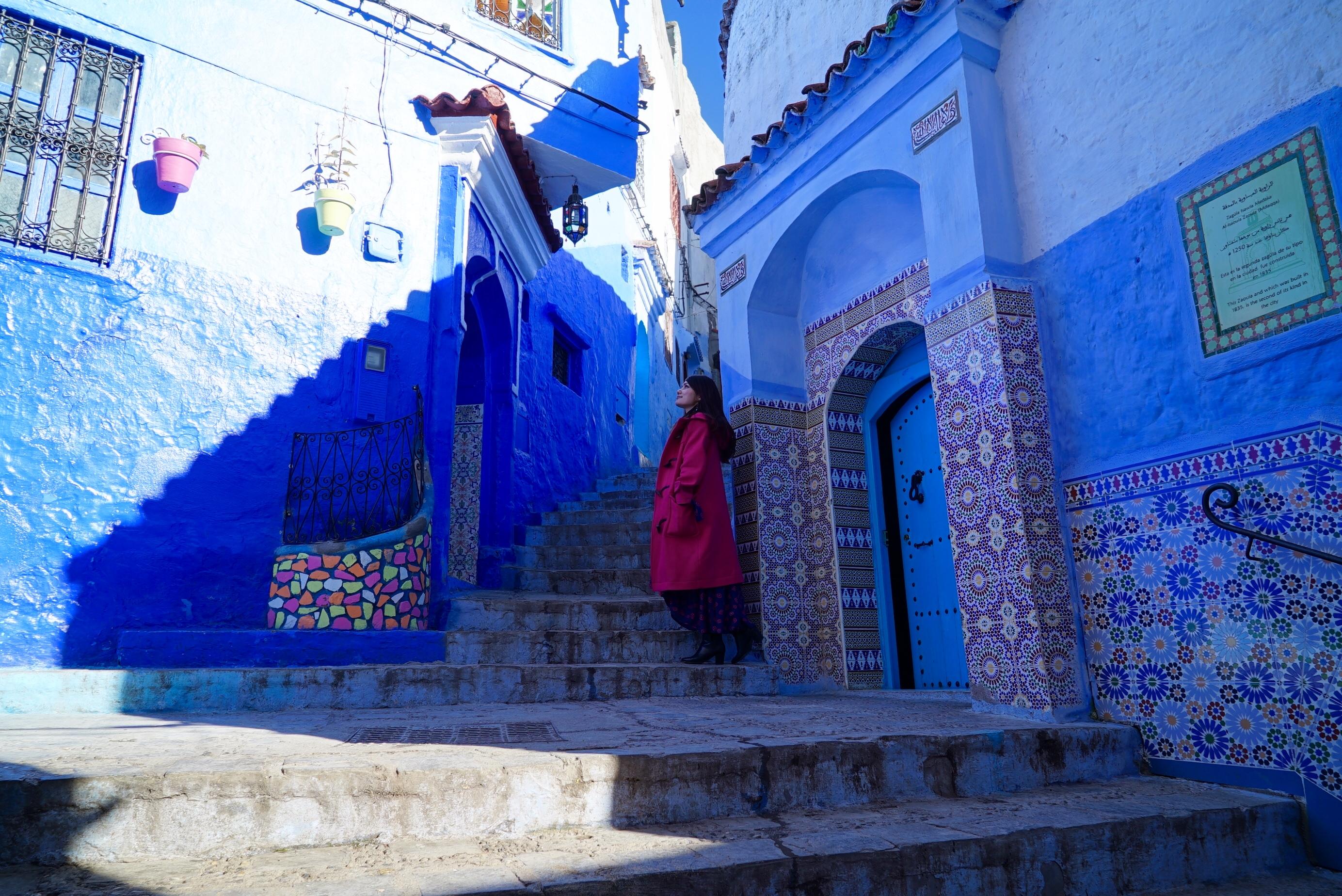 北アフリカ モロッコ旅  青い街「シェフシャウエン」